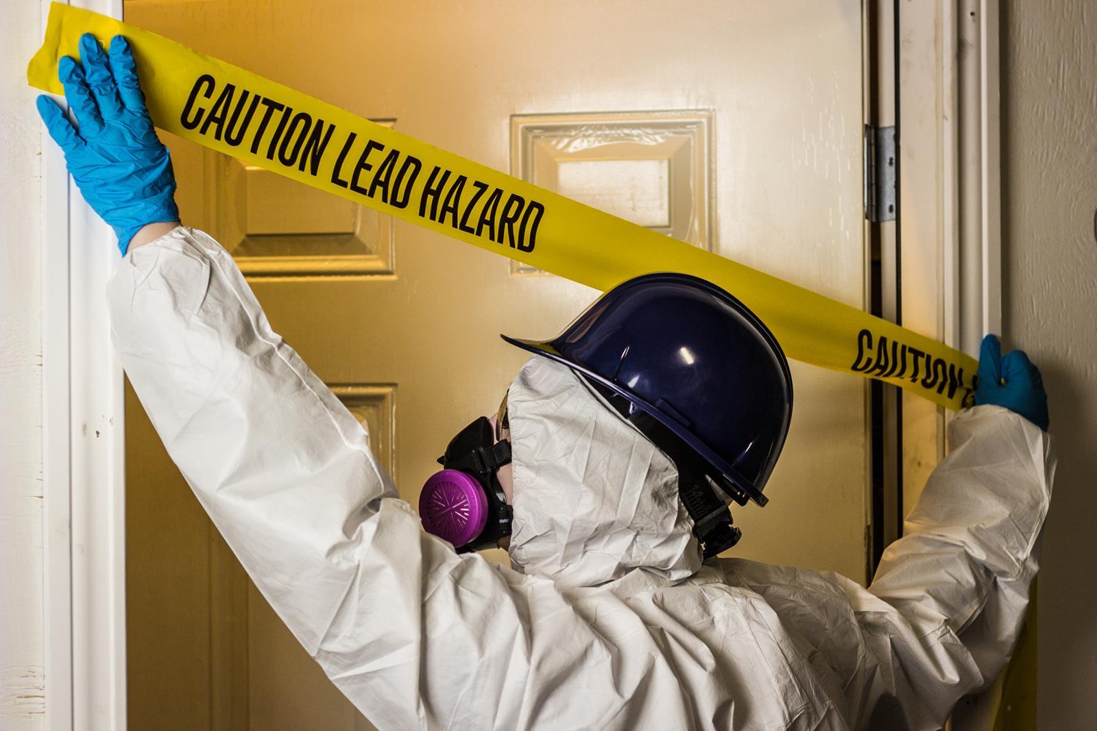 Caution Tape Lead Hazard
