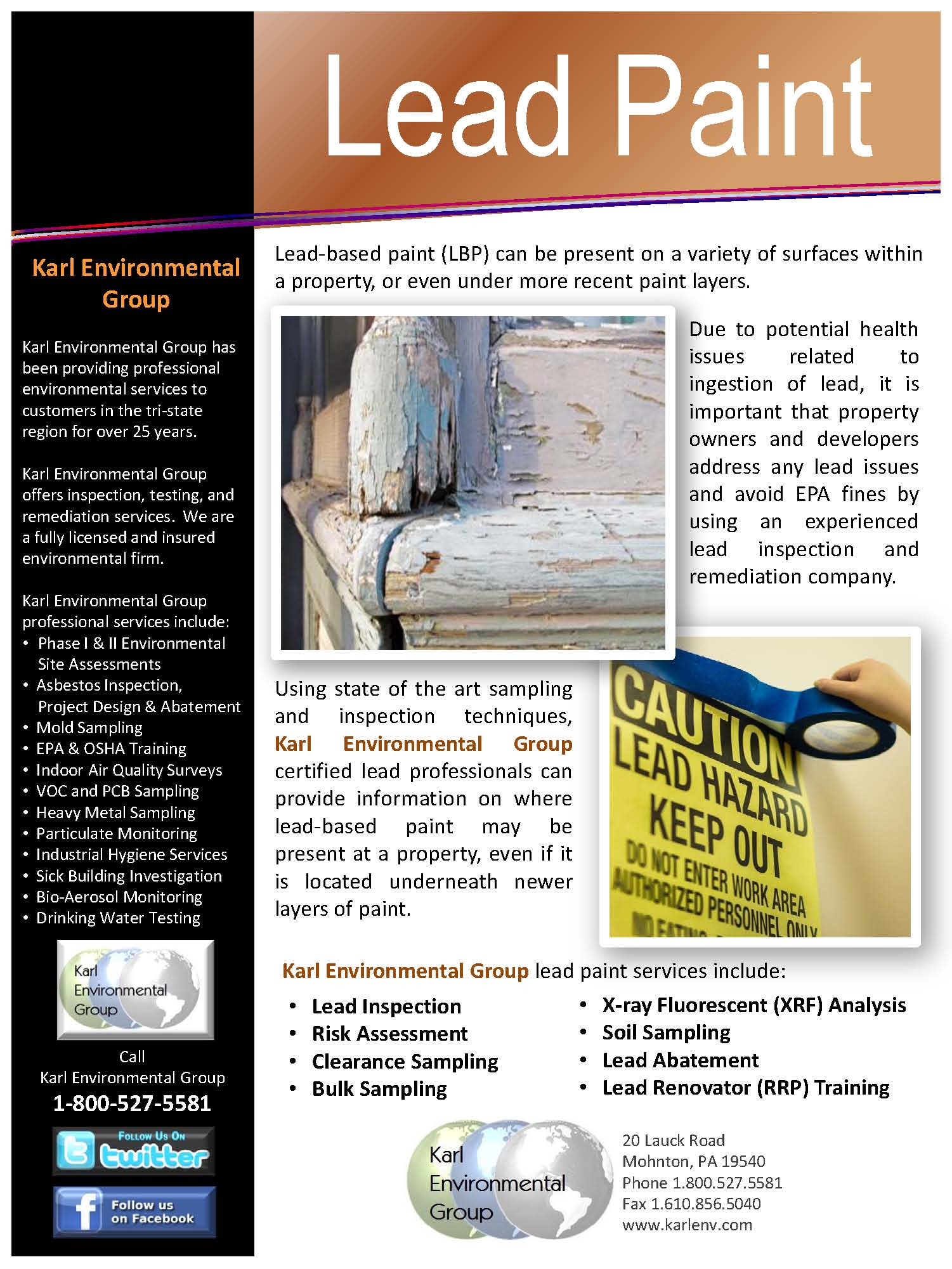 Lead Paint Karl Environmental Group Greater