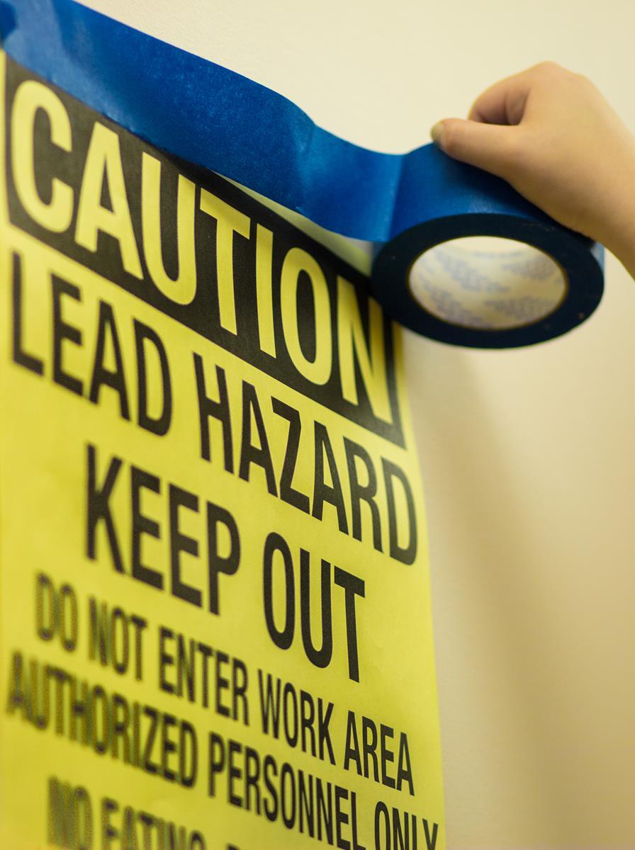 Lead Hazard Keep Out Sign