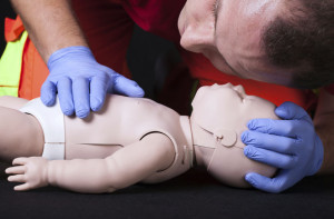 Baby First Aid and CPR Training on Infant