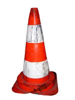 crushed safety cone