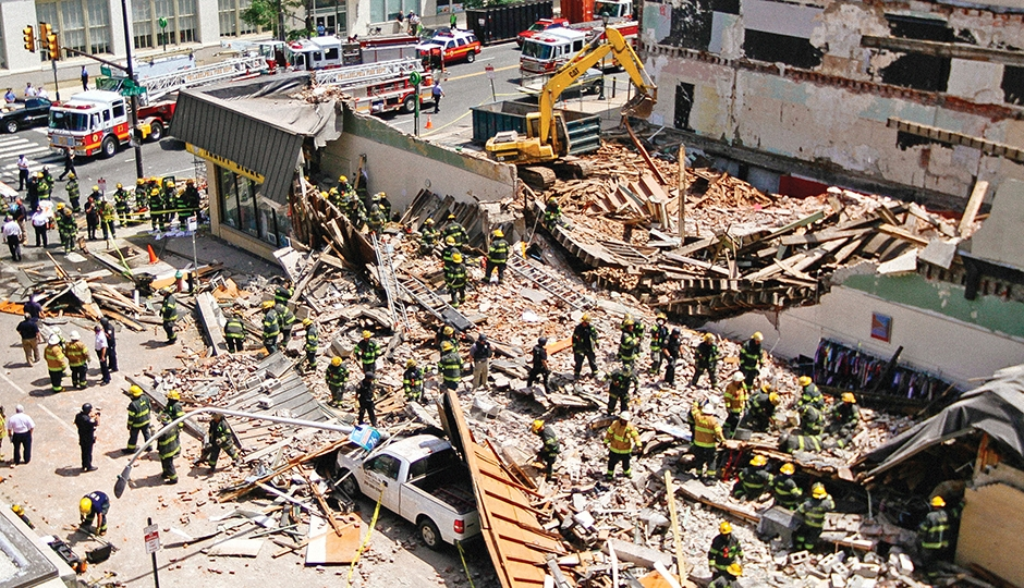 The results of not following OSHA or proper safety guidelines during demolition activities...